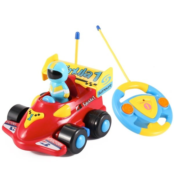 Cartoon Series Toddler Red R/C Radio Control Formula 1 Car