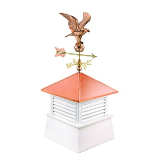 26-inch Square Manchester Vinyl Cupola with Cottage Eagle by Good Directions