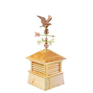 30-inch Square Kent Wood Cupola with Standard American Eagle by Good Directions