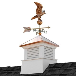 18-inch Square Manchester Vinyl Cupola with Cottage Eagle by Good Directions