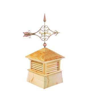 30-inch Square Kent Wood Cupola with Standard Victorian Arrow by Good Directions