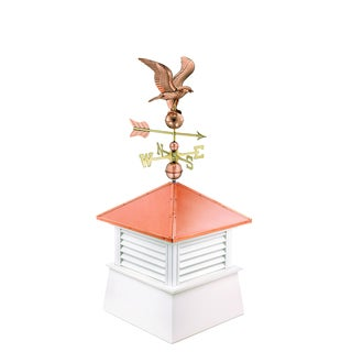 30-inch Square Manchester Vinyl Cupola with Standard American Eagle by Good Directions