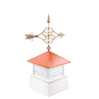 30-inch Square Manchester Vinyl Cupola with Standard Victorian Arrow by Good Directions