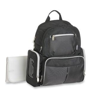 Graco Gotham Smart Organizer System Back Pack Diaper Bag Black/ Grey