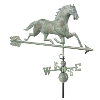 Horse Weathervane with Arrow Blue Verde Copper by Good Directions