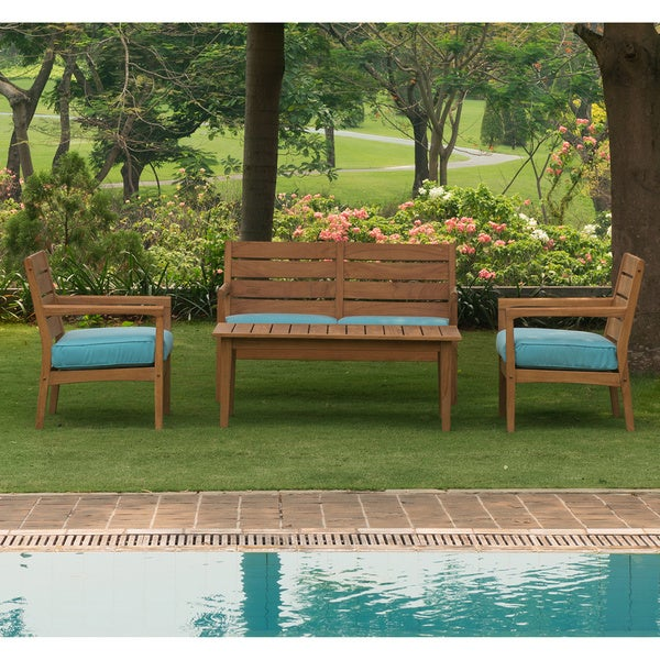 Cambridge Casual Andrea Teak 4 pc Chat Set