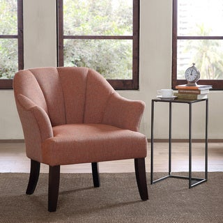 Madison Park Riya Channel Back Accent Chair -- Orange Color Option