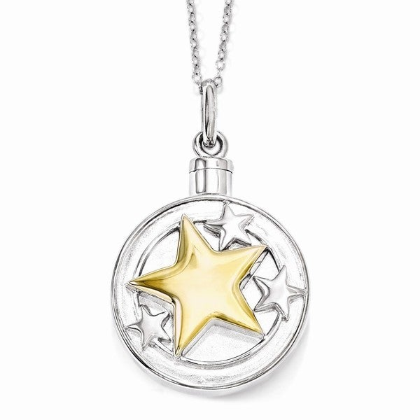 Sterling Silver & Gold-plated Your Brightest Star Ash Holder Necklace