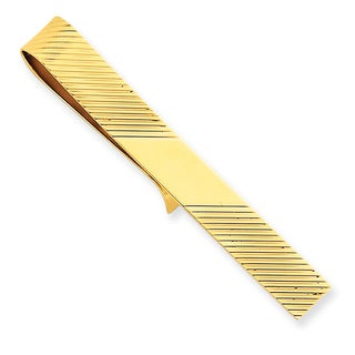 14k Yellow Gold Rough Tie Bar