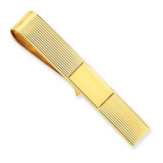 14k Yellow Gold Tie Bar Money Clip