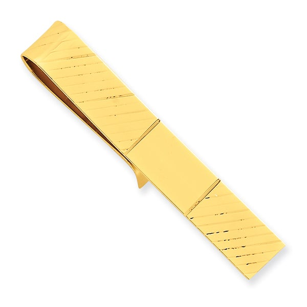 14k Yellow Gold Pattern Tie Bar