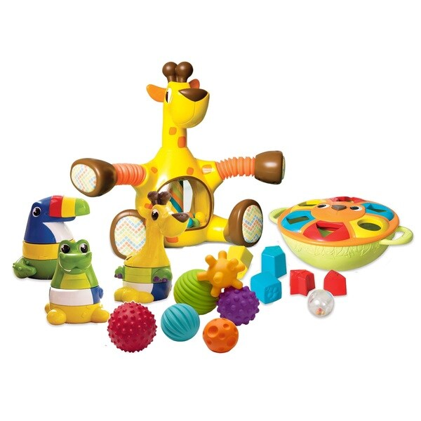 Kiddopotamus Interactive Safari Multisensory Activity Toy Set