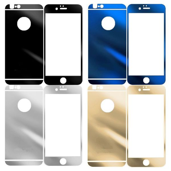 INSTEN Clear Tempered Glass with Black/ Blue Frame Screen Protector for Apple iPhone 6/ 6s