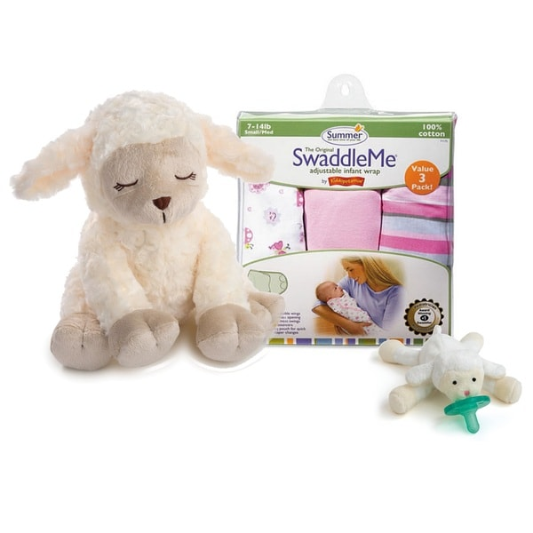 Summer Infant Soothing Sounds and Swaddle 5 Piece Set Little Lamb