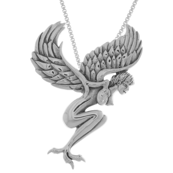 Carolina Glamour Collection Sterling Silver Gothic Angel Pendant