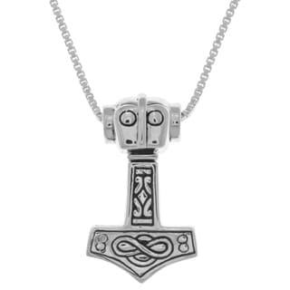 Carolina Glamour Collection Sterling Silver Thor's Hammer Celtic Viking Pendant