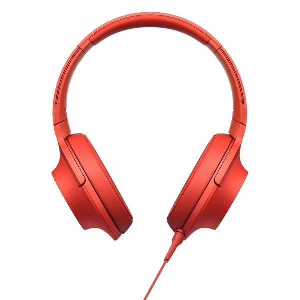 Sony h.ear MDR100AAPR Premium Hi-Res Stereo Headphones, Cinnabar Red