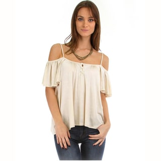 Make It Happen Women's Open-Shoulder Blouse