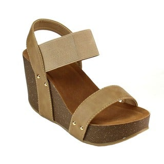 Beston AB27 Women's Elastic Band Wedges