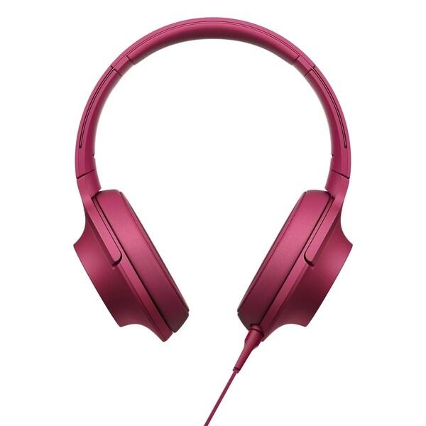 Sony h.ear MDR100AAPP Premium Hi-Res Stereo Headphones, Bordeaux Pink