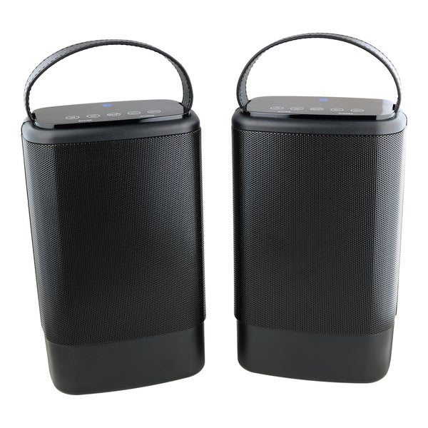 Denali Audio Large Wireless Stereo Bluetooth Pairing Speakers With Handle