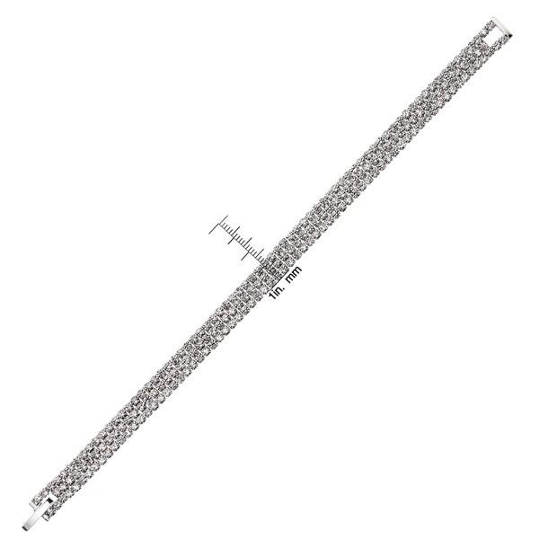 Isla Simone - Crystal Three Row Bracelet in Assorted Colors