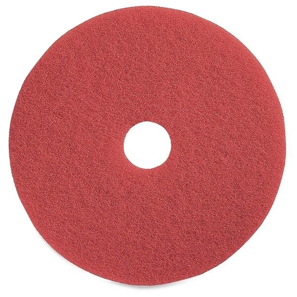 Genuine Joe Red Buffing Floor Pad - (5/Carton)