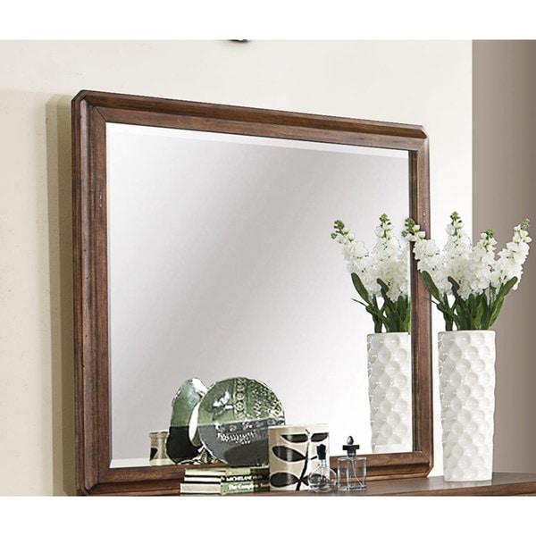 Harvest Brown Beveled Mirror
