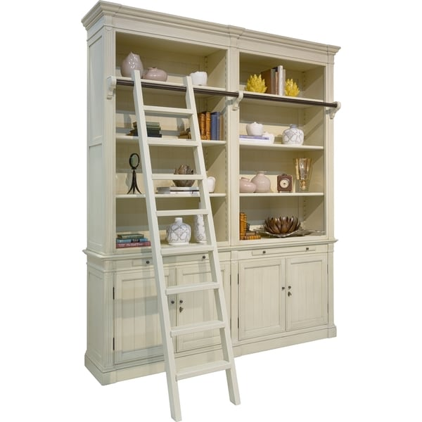 Safavieh Couture Collection Bellingham Alder Antique White Storage Library Wall