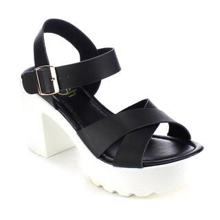 Beston AB22 Women's Lug Sole Chunky Sandals