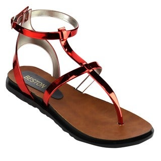 Beston Women's Jelly Thong Sandals