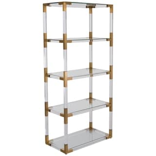Safavieh Couture Collection Hayley Bronze Brass Storage Bookshelf