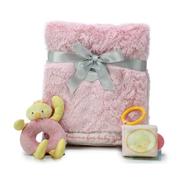 Nurture Luxury Baby Girl Blanket and Toys Gift Set 17435122