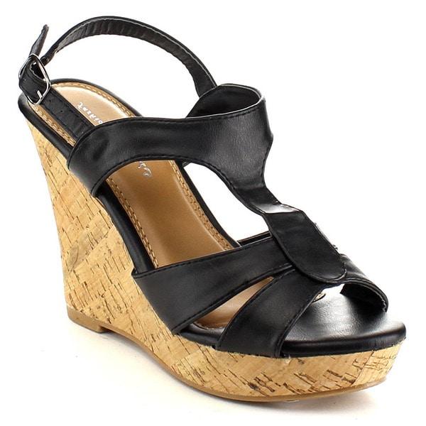 Beston EA81 Women's Cork Wedge Sandals