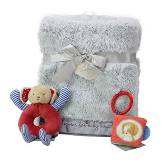 Nurture Luxury Baby Boy Blanket and Toys Gift Set