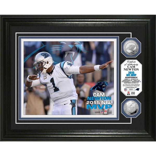 Cam Newton 2015 NFL MVP Silver Coin Photo Mint