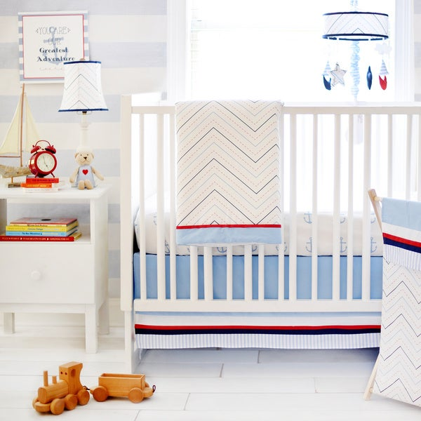My Baby Sam First Mate 3-piece Crib Bedding Set
