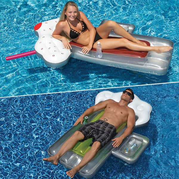 Swimline BeerMug and RootBeer 2-Pack Inflatable Pool Floats for Swimming Pools