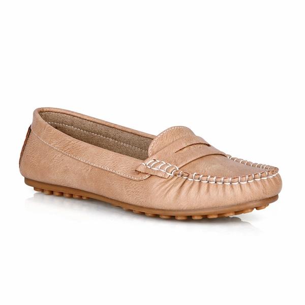 Com Feite Jamaica-01 Round Toe Women's Penny Loafer Flats