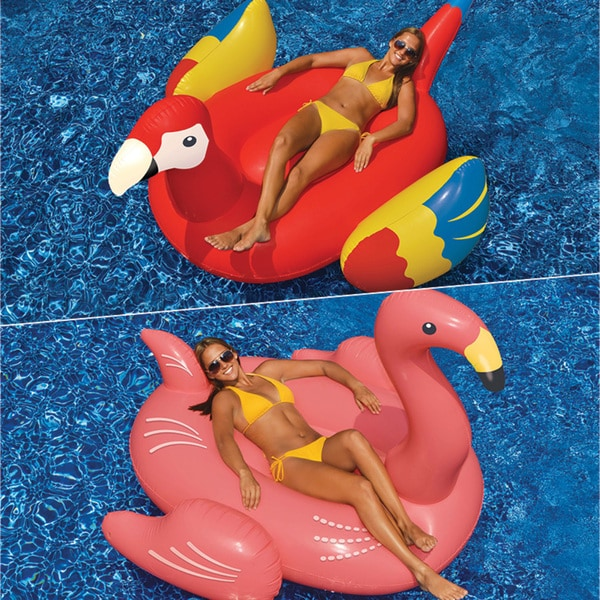 Swimline Giant Flamingo and Giant Parrot 2-Pack for Swimming Pools