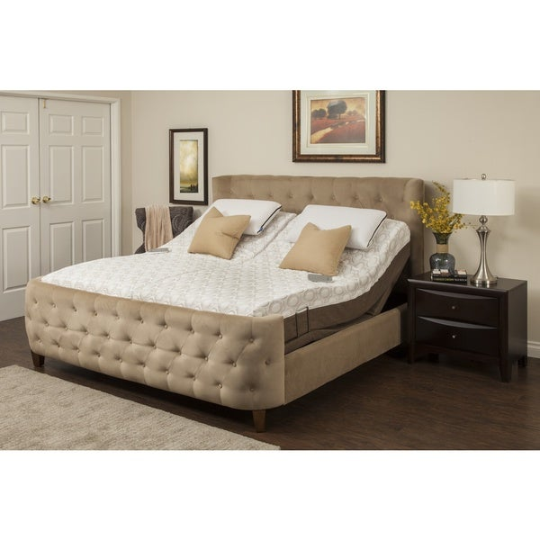 Blissful Nights Dahlia 11-inch King-size Memory Foam Mattress and Adjustable Base
