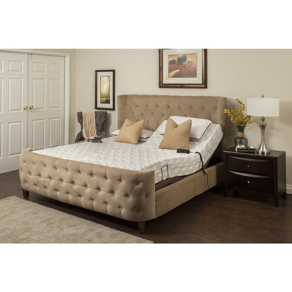 Blissfull Nights Blossom 9-inch King-size Memory Foam Mattress and Adjustable Base10