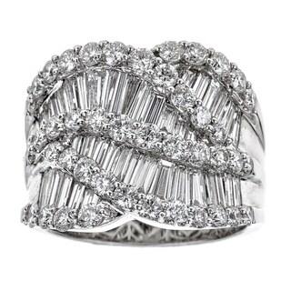 18k White Gold 3 7/8ct TDW Diamond Baguette Round Ring (H-I, SI1-SI2)