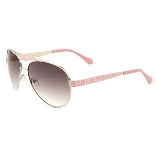 GLO Women's Metal Aviator Sunglasses