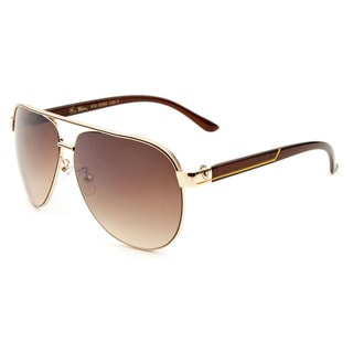 Khan Men's Metal Aviator Sunglasses