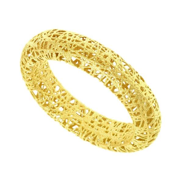 14 Karat Yellow Gold 5mm Mesh Ring