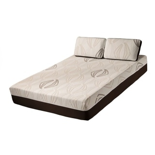 Blissful Nights Violet 11-inch Twin XL-size Latex and Gel Memory Foam Mattress