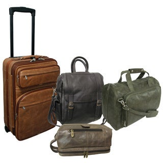Amerileather Millenium 4-piece Leather Luggage Set