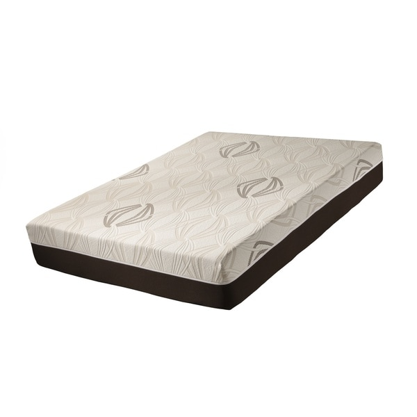 Blissful Nights Violet 11-inch Queen-size Latex and Gel Memory Foam Mattress