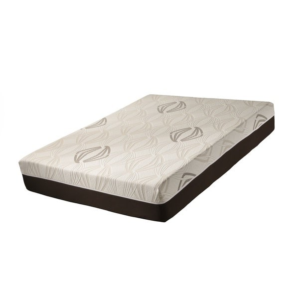 Blissful Nights Violet 111-inch Cal King-size Latex and Gel Memory Foam Mattress